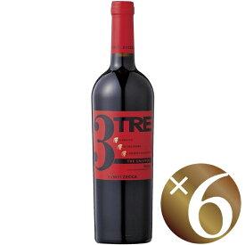 【22日はポイント5倍】トレ・グラッポリ コンティ・ゼッカ/コンティ・ゼッカ 750ml×6本 (赤ワイン)