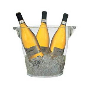 【同梱不可】アクリルウェイブ ワインクーラーLAcrylic wave wine cooler