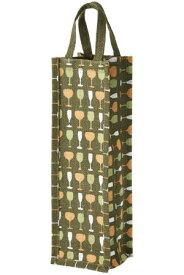 麻ワインバッグ1本用 グリーン 10個セット