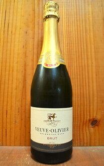 브브・오리비에・브룽트・밴・무스・(스파클링 포도주)・그란・시・드・프랑스・런 디 라스사)・일본 리커 수입품 Veuve-Olivier Brut Sparkling Wine (Les Grands Chais de France Landiras)