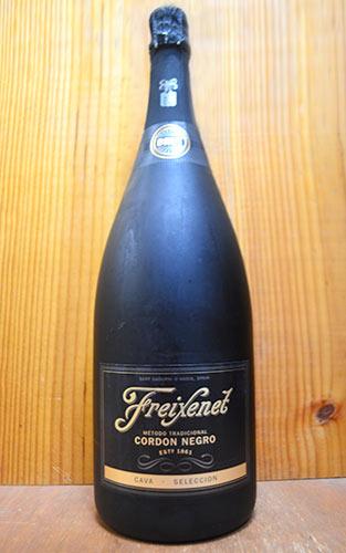 大型ボトル フレシネ コルドン ネグロ カバ ブリュット セレクシオン 特大 マグナムサイズ メトッド トラディショナル (シャンパーニュ方式=瓶内2次発酵) 正規 フェレル家 D.Oカヴァ シャンパン方式 1500ml 1.5L