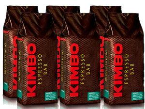 【1kg×6袋】【ケース買い特価】【1袋あたり2,883円】KIMBO(キンボ) エスプレッソ豆 プレミアム 1kg(1000g)×6袋