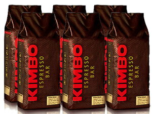 【1kg×6袋】【ケース買い特価】【1袋あたり2,800円】KIMBO(キンボ) エスプレッソ豆 エキストラクリーム 1kg(1000g)×6袋