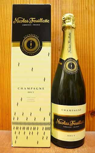 """【6本以上ご購入で送料・代引無料】ニコラ フィアット シャンパーニュ ブリュット ホワイトラベル 箱付 AOC シャンパーニュ シャンパン 白 泡 辛口 750mlNicolas Feuillatte Champagne Brut""""White Label""""Gift Box AOC Champagne"""