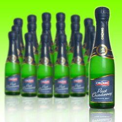 """チンザノ・ピノ・シャルドネ・ブリュット・""""ベビー""""(イタリア産ミニ・スパークリングワイン)チンザノ社・正規代理店購入品CINZANO Pinot chardonnay(Baby Bottle)"""