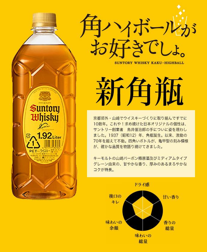 【正規品 1920ml】サントリー ウイスキー 新角瓶 正規品 ブレンデッド ジャパニーズ ウイスキー 1920ml 40% 新 角瓶 新角瓶 ハードリカー