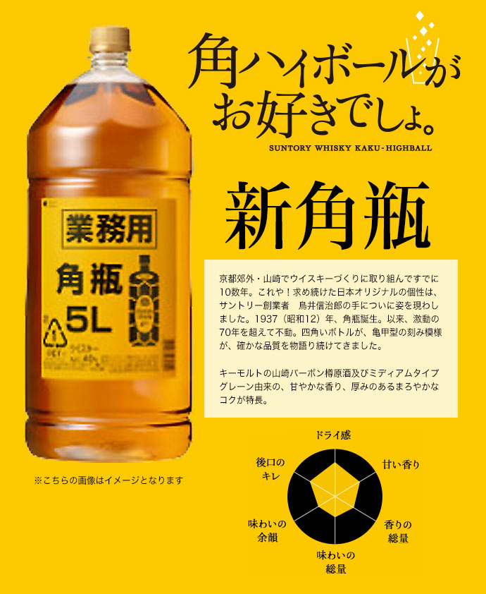 【リニューアル ペットボトル】【正規品】サントリー ウイスキー 新角瓶 正規品 ブレンデッド ジャパニーズ ウイスキー 5000ml 40度 新 角瓶 新・角瓶 ハードリカーSUNTORY WHISKY KAKUBIN BLENDED JAPANESE WHISKY 5000ml 40%