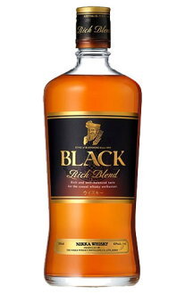 burakkunikkaritchiburendonikkauisukiburendettouisuki正規的700ml 40%堅硬的酒精飲料BLACK NIKKA RICH BLEND NIKKA WHISKY BLEND WHISKY 700ml 40%