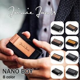 財布 超コンパクト メンズ 3つ折り ブラック( Jaimie Jacobs ) Nano Boy 本革 イタリアンレザー コンパクト財布 ミニ財布 小さい財布 革 レザー セカンドウォレット 休日 二つ目 ミニマル