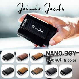 財布 超コンパクト メンズ 3つ折り 小銭入れ( Jaimie Jacobs ) Nano Boy Pocket 本革イタリアンレザー コンパクト財布 ミニ財布 小さい財布RFID 革 レザー セカンドウォレット 休日 二つ目 ミニマル