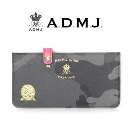 ADMJ エーディーエムジェイ カモフラージュ柄PVC長財布 スリムウォレット ACS06024