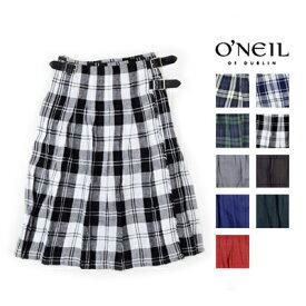 O'NEIL OF DUBLIN(オニールオブダブリン)LOW WAIST PLEATS WRAP SKIRT(WITH PINリネンプリーツラップ巻きスカート NOD0901