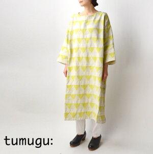 tumugu(ツムグ)サンカクジャガードワンピースTB19111