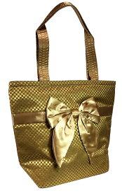 【送料無料】NaRaYa ナラヤ NBCS-200 バケツ型トートバッグ チェック生地 チェック柄レディース 女性 婦人 ミニトートバッグ かわいい おしゃれ CA御用達 ゴールド 金