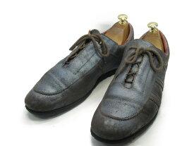 【中古】【送料無料】Stephane Gontard- / (27.0cm〜27.5cm) フランス製・レザースニーカーメンズシューズ 紳士 靴 ビジネス カジュアル メンテナンス済