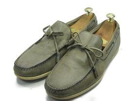 【中古】【送料無料】Ermenegildo Zegna (エルメネジルド・ゼニア)6 EEE / (24.5cm〜25.0cm) イタリア製・スニーカーメンズシューズ 紳士 靴 ビジネス カジュアル メンテナンス済