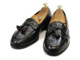 【中古】【送料無料】JOHNSTON & MURPHY (ジョンストン&マーフィー)10.5 M/ (28.0cm〜28.5cm) イタリア製・タッセルローファーメンズシューズ 紳士 靴 ビジネス カジュアル メンテナンス済
