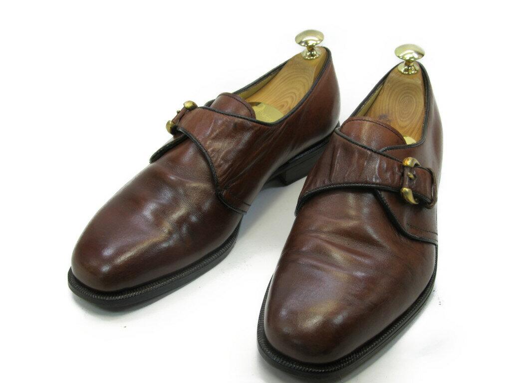 【中古】【送料無料】BALLY (バリー)5.5 E / (23.5cm〜24.0cm) モンクストラップメンズシューズ 紳士 靴 ビジネス カジュアル メンテナンス済