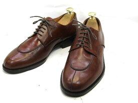 【中古】【送料無料】GLANCARLO MORELLI (モレッリィ)40 / (24.5cm〜25.0cm) イタリア製・Yチップメンズシューズ 紳士 靴 ビジネス カジュアル メンテナンス済