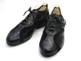 【中古】【送料無料】Alberto Guardiani39 / (24.5cm〜25.0cm) イタリア製・レザースニーカーメンズシューズ 紳士 靴 ビジネス カジュアル メンテナンス済