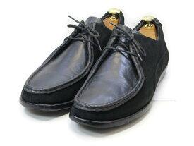 【中古】【送料無料】Ermenegildo Zegna (エルメネジルド・ゼニア)43 / (27.5cm〜28.0cm) イタリア製・スエード×レザー チャッカブーツメンズシューズ 紳士 靴 ビジネス カジュアル メンテナンス済