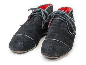 【中古】【送料無料】Ermenegildo Zegna (エルメネジルド・ゼニア)- / (26.0cm〜26.5cm) イタリア製・スエードチャッカブーツメンズシューズ 紳士 靴 ビジネス カジュアル メンテナンス済