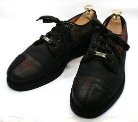 【中古】【送料無料】MARZETTI40 / (24.5cm〜25.0cm) イタリア製・デザインシューズメンズシューズ 紳士 靴 ビジネス カジュアル メンテナンス済
