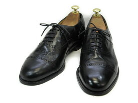 【中古】【送料無料】G.H.BASS & CO (ジーエイチバス)8.5 D / (26.0cm〜26.5cm) イタリア製・ストレートチップメンズシューズ 紳士 靴 ビジネス カジュアル メンテナンス済