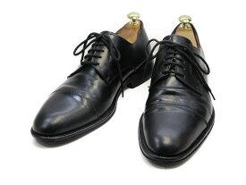 【中古】【送料無料】BRILLANTE39 / (24.5cm〜25.0cm) イタリア製・ストレートチップメンズシューズ 紳士 靴 ビジネス カジュアル メンテナンス済