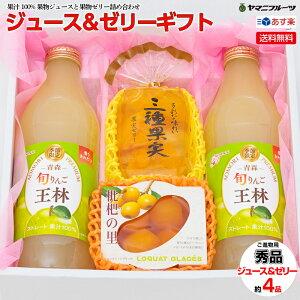 [ご進物用] 果汁100%果物ジュース&果物ゼリー(袋入りゼリー・果実の里など)約4品入り【送料無料/あす楽対応/のし対応】[御中元 お中元 お盆 プレゼント 誕生日 ギフト 贈り物 お祝い 内祝