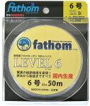 国産フロロカーボン製釣り糸ハリス6号ファゾム(fathom)LEVEL6