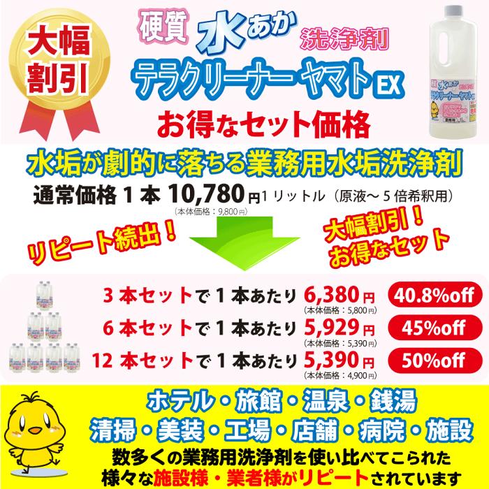 業務用水垢洗浄剤お得なセット価格