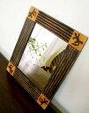 ★キャッシュレス5%還元対象★鏡 壁掛け ウォールミラー 壁掛けミラー 壁掛け鏡 アニマル アジアン雑貨 バリ ♪トカゲ…