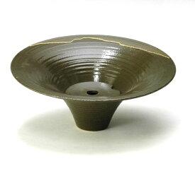 花器 嵐山221 剣山受付 信楽陶土使用 陶器 水盤 花瓶 フラワーベース