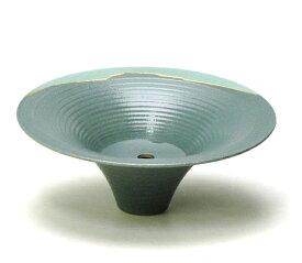 花器 嵐山222 剣山受付 信楽陶土使用 陶器 水盤 花瓶 フラワーベース