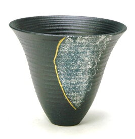 花器 北山89 プラスチック剣山受付 信楽陶土使用 陶器 水盤 花瓶 フラワーベース