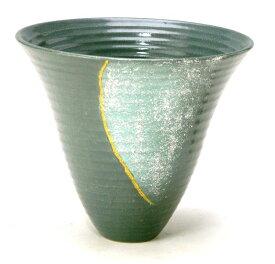 花器 北山90 プラスチック剣山受付 信楽陶土使用 陶器 水盤 花瓶 フラワーベース