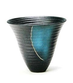 花器 ト1206 プラスチック剣山受付 信楽陶土使用 陶器 水盤 花瓶 フラワーベース