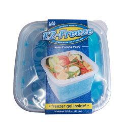 クールギアCOOLGEAREZフリーズスクエアSCOOLGEAR-927本体二重構造保冷ジェル入り保冷剤入りタッパー痛みやすい食材、サラダを持ち運ぶのに便利!横幅14、奥行14、高さ6cm容量570ml