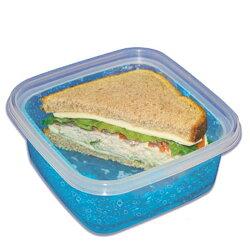 クールギアCOOLGEAREZフリーズスクエアS&MCOOLGEAR-927、929本体二重構造保冷ジェル入り保冷剤入りタッパー痛みやすい食材、サラダを持ち運ぶのに便利!S・Mのサイズ別各一個ずつをセットに!
