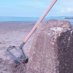 【頑張って送料無料!】ステンレスプロ仕様貝採りジョレン180cm10cmの長い爪でごっそり採れる!潮干狩りに最適!安心と信頼の燕三条製ハマグリ、アサリ、しじみ採りに