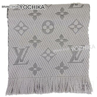 LOUIS VUITTON Louis-Vuitton scarf エシャルプ-Mania グリペルル (light gray) M74742 brand new (LOUIS VUITTON Logomania Muffler PearlGrey M74742) fs3gm #yochika