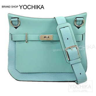 HERMES 헤르메스 Gypsy 엘 31 블루 아톨 새 욘 X스위프트 실버 쇠장식 신품(HERMES Jypsiere Bag 31 Blue Atoll Taurillon Clemence/Swift SHW [Brand New])#yochika