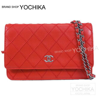CHANEL CHANEL fancy CC matelasse big stitch chain wallet red A80149 new article (CHANEL matelasse bigstitch Wallet on Chain bag Red A80149)#yochika latest for 2,014 years