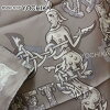 """HERMES Hermes scarves 90 scarf """"Alphabet Russe"""" grease X Pearl Grey (grisperl) X white silk brand new as well as ([Pre-loved] HERMES Carre Scarf """"Alphabet Russe"""" Gris/Gris Perle/Blanc [USED-Mint]) # I'm Chika"""