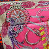 "HERMES Hermes scarf scarves 90 ""Zenobia Queen of Palmyra"" Rouge X pink X silver silk 100% brand new (HERMES Scarf Carre 90 ""Zenobie, Reine de Palmyre"" Rouge/Pink/Silver Silk [Brand New], [Authentic]) # I'm Chika"