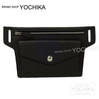 """HERMES Hermes Bags waist pouch """"telegram"""" black (black) there silver metal fittings new unused (HERMES Waist Bag Pouch """"Telegramme"""" Noir (Black) Togo SHW [Never used], [Authentic]) # I'm Chika"""