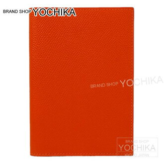 "HERMES Hermes Passport case ""MC2 Magellan"" four Orange brand new Epson (HERMES Pasport Case ""MC2 Magellan"" Feu Orange Epsom [Brand new], [Authentic]) # I'm Chika"