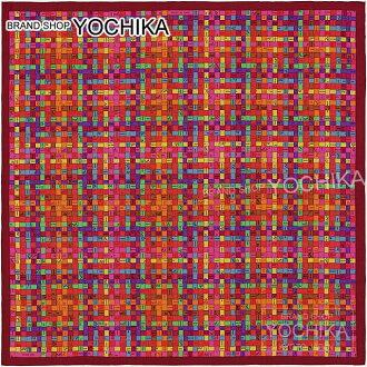 """愛馬仕愛馬仕圍巾圍巾 90 博爾達克""""健康檢查""""波爾多橙 X 紫色絲綢 #yochika 100%全新 (Carre 90 條愛馬仕圍巾""""博爾達克 au Carre""""波爾多/橙色/Viollet)"""