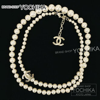 chanel necklace. chanel chanel necklace cc mark costume perllongnecklace white x gold a85218 new (chanel mark pearl long white/gold a85218) #